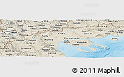 Shaded Relief Panoramic Map of Makedonia