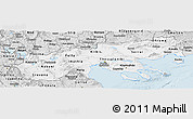 Silver Style Panoramic Map of Makedonia