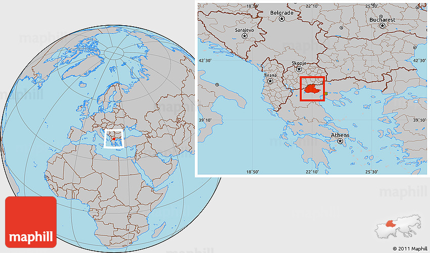 Pella Greece Map.Gray Location Map Of Pella