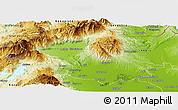 Physical Panoramic Map of Pella