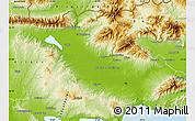 Physical Map of Serrai