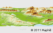 Physical Panoramic Map of Serrai