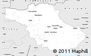 Silver Style Simple Map of Serrai