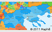 Political Shades Simple Map of Makedonia