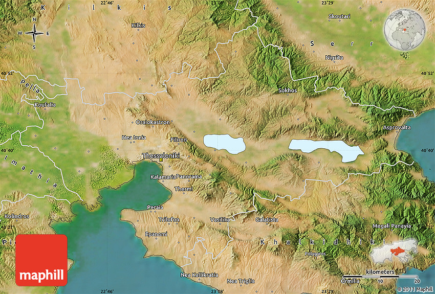 Satellite Map of Thessaloniki