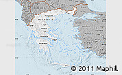Gray Map of Greece