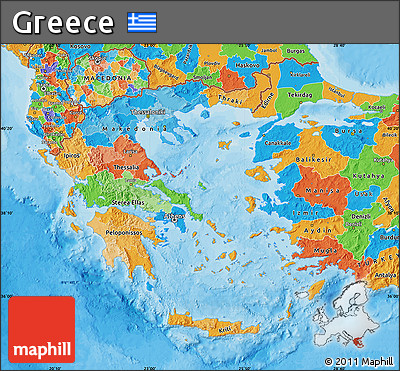 Free Political Map Of Greece - Political map of greece
