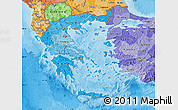 Political Shades Map of Greece