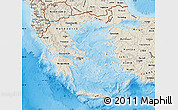 Shaded Relief Map of Greece