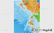 Political Shades 3D Map of Nissia Ioniou