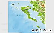 Physical 3D Map of Kerkira