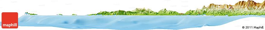 Physical Horizon Map of Kerkira