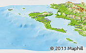 Physical Panoramic Map of Kerkira