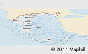 Classic Style Panoramic Map of Greece, single color outside