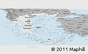 Gray Panoramic Map of Greece