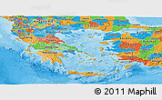 Political Panoramic Map of Greece