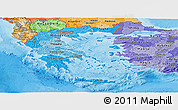 Political Shades Panoramic Map of Greece