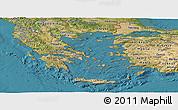 Satellite Panoramic Map of Greece