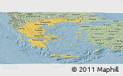 Savanna Style Panoramic Map of Greece