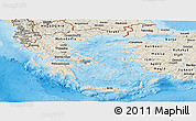 Shaded Relief Panoramic Map of Greece