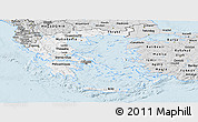 Silver Style Panoramic Map of Greece