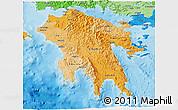 Political Shades 3D Map of Peloponissos