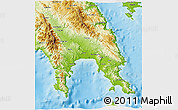 Physical 3D Map of Lakonia