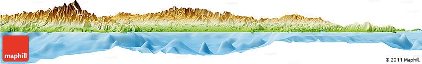 Physical Horizon Map of Lakonia