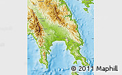 Physical Map of Lakonia