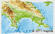 Physical Panoramic Map of Lakonia