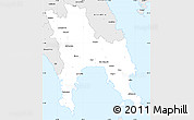 Silver Style Simple Map of Lakonia