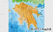 Political Shades Map of Peloponissos