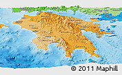 Political Shades Panoramic Map of Peloponissos