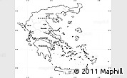 Blank Simple Map of Greece, cropped outside