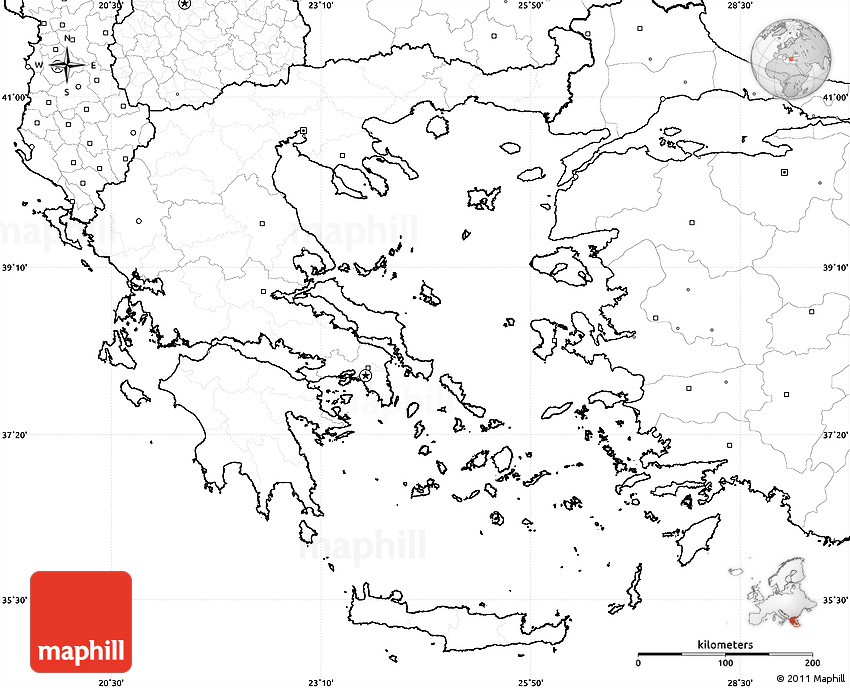 Greece Map Blank.Blank Simple Map Of Greece No Labels
