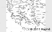 Blank Simple Map of Greece