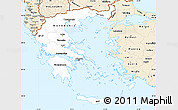 Classic Style Simple Map of Greece