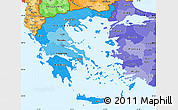 Political Shades Simple Map of Greece