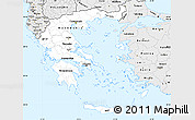 Silver Style Simple Map of Greece