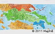 Political Shades 3D Map of Sterea Ellas