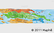 Political Shades Panoramic Map of Sterea Ellas