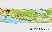 Physical Panoramic Map of Voiotia