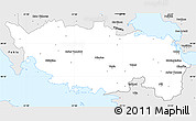 Silver Style Simple Map of Voiotia