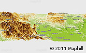 Physical Panoramic Map of Trikala