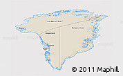 Shaded Relief 3D Map of Greenland, cropped outside
