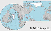 Blank Location Map of Greenland, gray outside