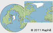Blank Location Map of Greenland, savanna style outside