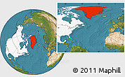 Satellite Location Map of Greenland, highlighted continent