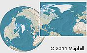 Satellite Location Map of Greenland, lighten, land only