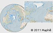 Satellite Location Map of Greenland, lighten